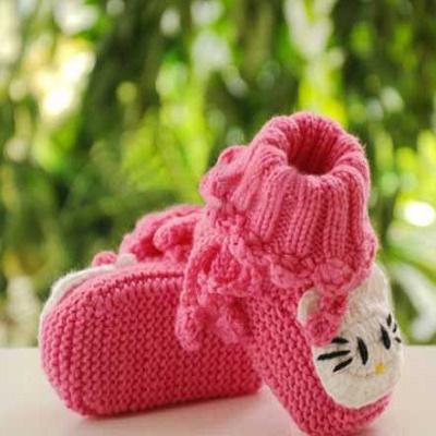مدل کفش بافتنی بسیار زیبا کودکانه + عکس