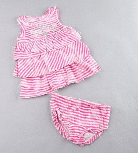 لباس نوزادی دخترانه با تم رنگی خاص + تصاویر
