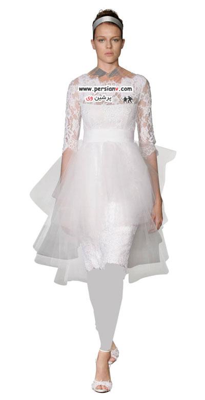 جدیدترین مدل های لباس عروس با آستین بلند+عکس