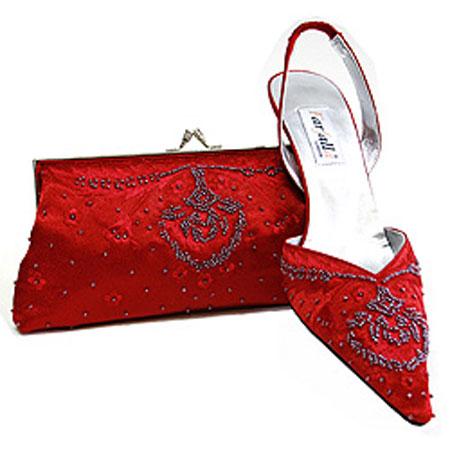 ست جذاب کیف و کفش قرمز و صورتی + تصاویر