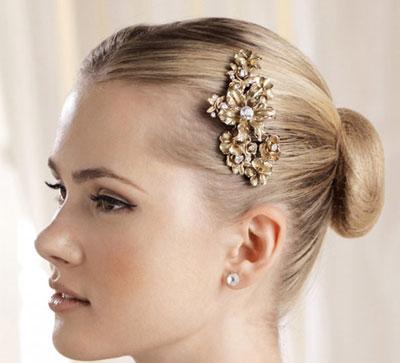مدل هایی ساده و زیبا از گل سرهای عروس + تصاویر