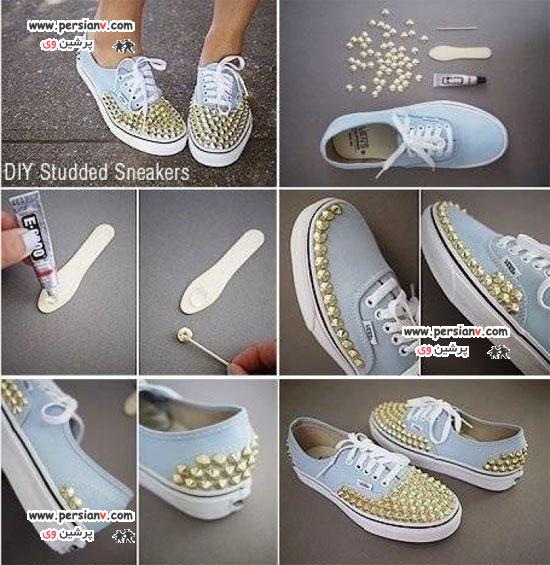 ۱۰ روش جالب برای زیباتر کردن کفش ها +عکس