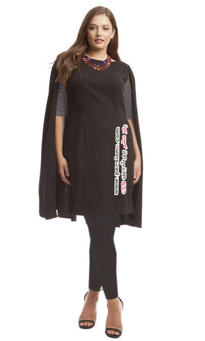 ۱۲ مدل مناسب از لباس مشکی زنانه سایز بزرگ +عکس