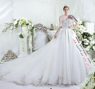 مدل لباس عروس های زیبا و کریستالی برند دارسارا +عکس(۲)