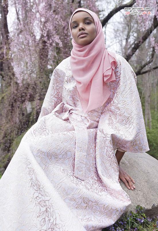حلیمه ادن مدل مسلمان و با حجاب