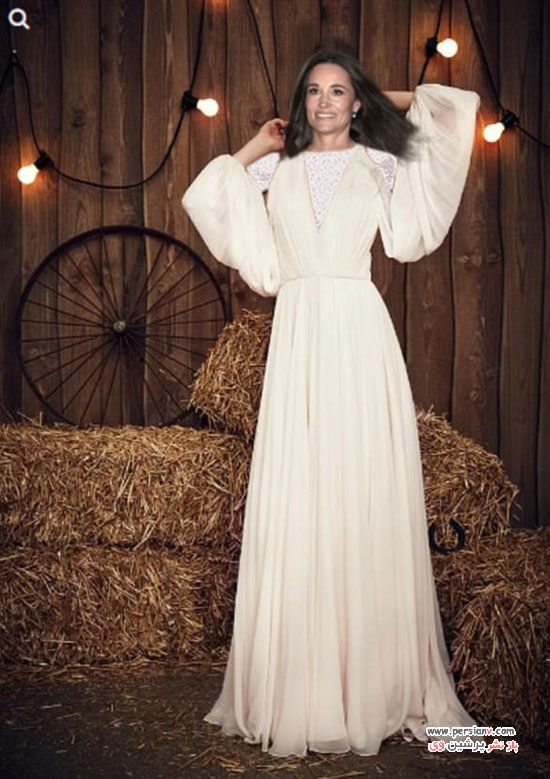 لباس عروس انتخابی پیپا میدلتون