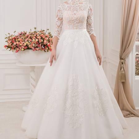 لباس عروس آستین دار
