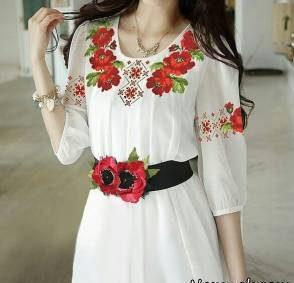 مدل های زیبای گلدوزی روی لباس