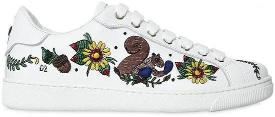مدل کفش کتانی های گلدوزی شده
