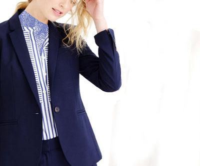 راهنمای انتخاب مدل کت و شلوار برای خانم های کوتاه قد