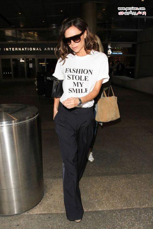 استایل با تی شرت سفید