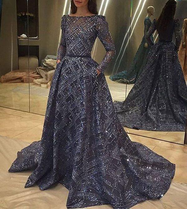 مدل های زیبا و شیک لباس مجلسی بلند پوشیده