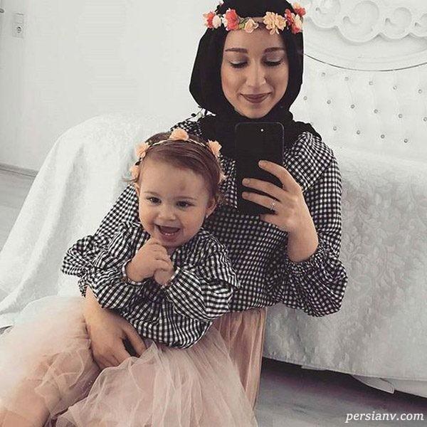 ایده های شیک و زیبا از لباس ست مادر و دختر اسپرت