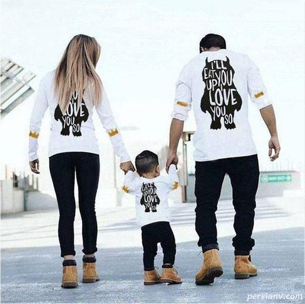 ایده های شیک لباس های ست مادر و پسر و پدر