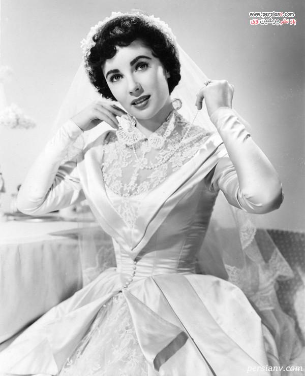 لباس عروس الیزابت تیلور در فیلم