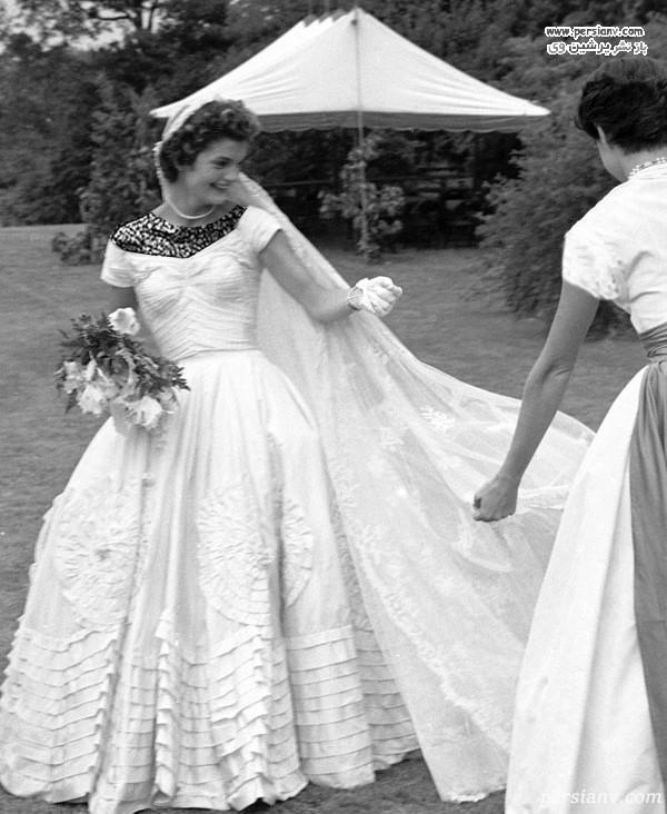 لباس عروس ژاکلین کندی