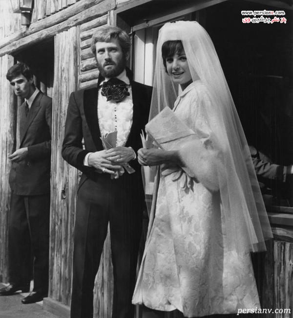 تور سر کوتاه و لباس عروس کتی