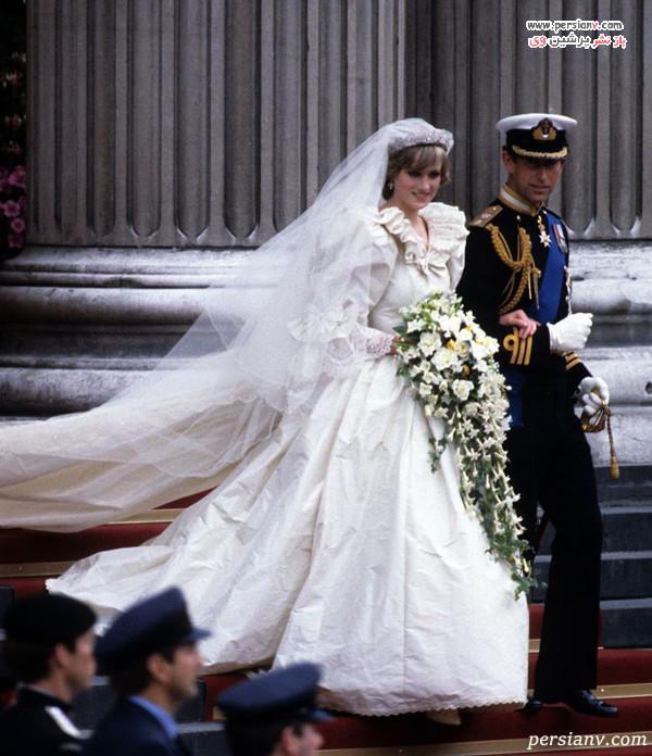 لباس عروس آستین پفی دیانا