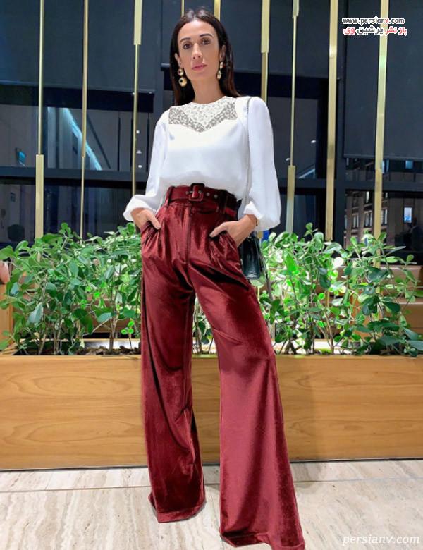 شلوار فاق بلند برای لاغری