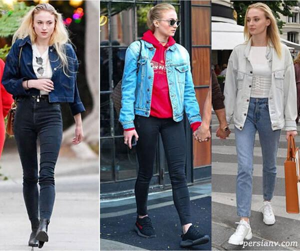 لباس های جین سوفی ترنر