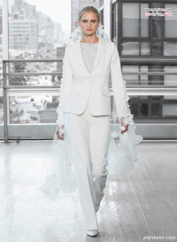 لباس عروس به شکل کت و شلوار