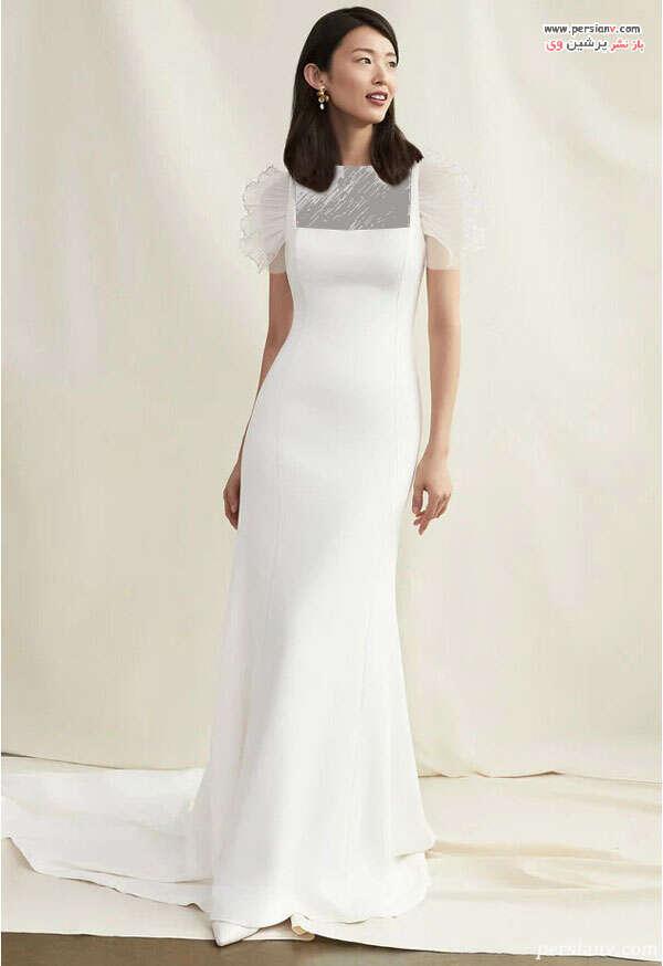 لباس عروس یقه مربعی