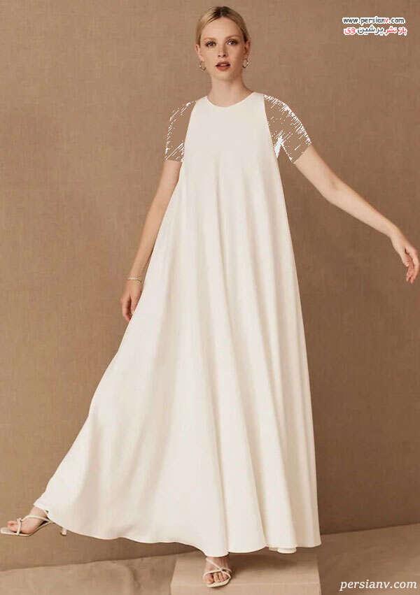 لباس عروس مدل ساده