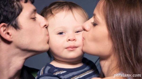 فواید بوسیدن کودک