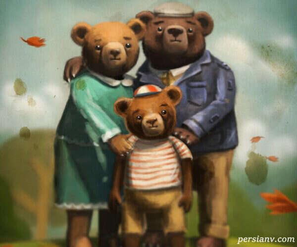 قصه خرس تنبل