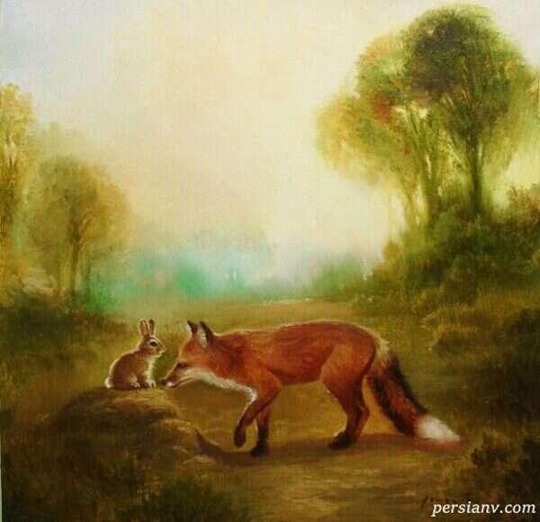 داستان روباه در یک روز برفی