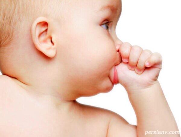درمان انگشت مکیدن کودکان