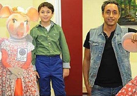 امیرحسین رستمی و پسر 10 ساله اش در جشن پاییزی