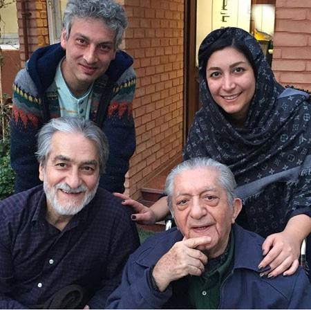 سه نسل از خانواده استاد عزت الله انتظامی عکس
