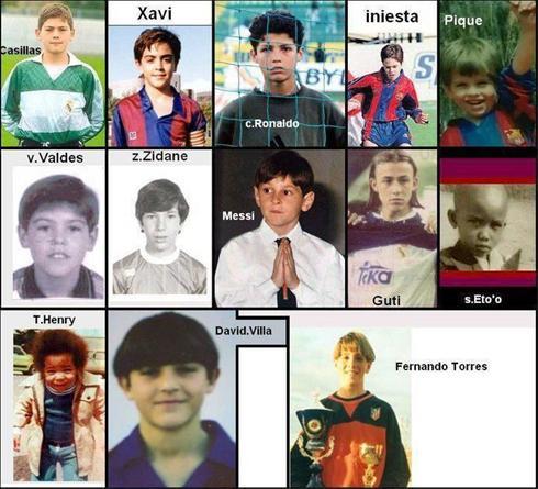 عکس:نوجوانی ستارههای فوتبال