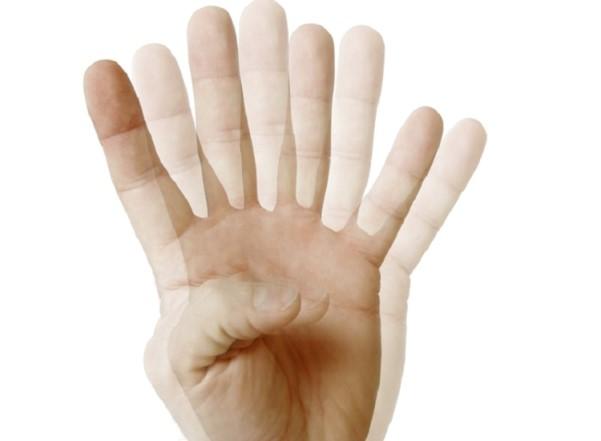 لرزش دست ها
