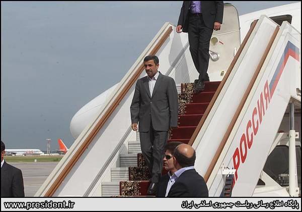 عکس: حاشیه سفر احمدی نژاد به مسکو