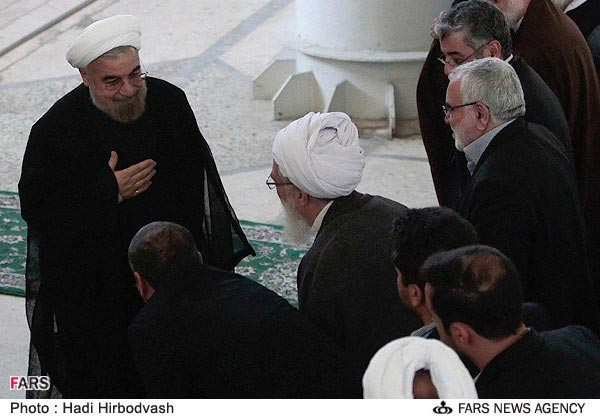 عکس: روحانی در نمازجمعه پس از انتخابات