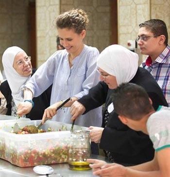 عکس: مراسم افطاری همسر بشار اسد