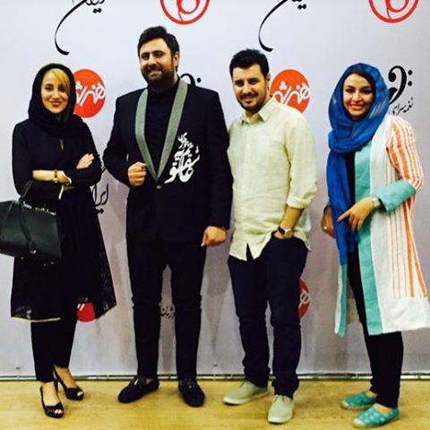 عکس جدید مهلقا باقری و همسرش جواد عزتی در کنسرت محمد علیزاده