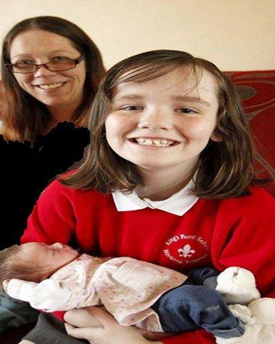 دختر ۱۰ ساله ای که مادر باردارش را زایمان کرد !! + عکس