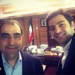 عکس خندان علی ضیا و دکتر سید حسن هاشمی