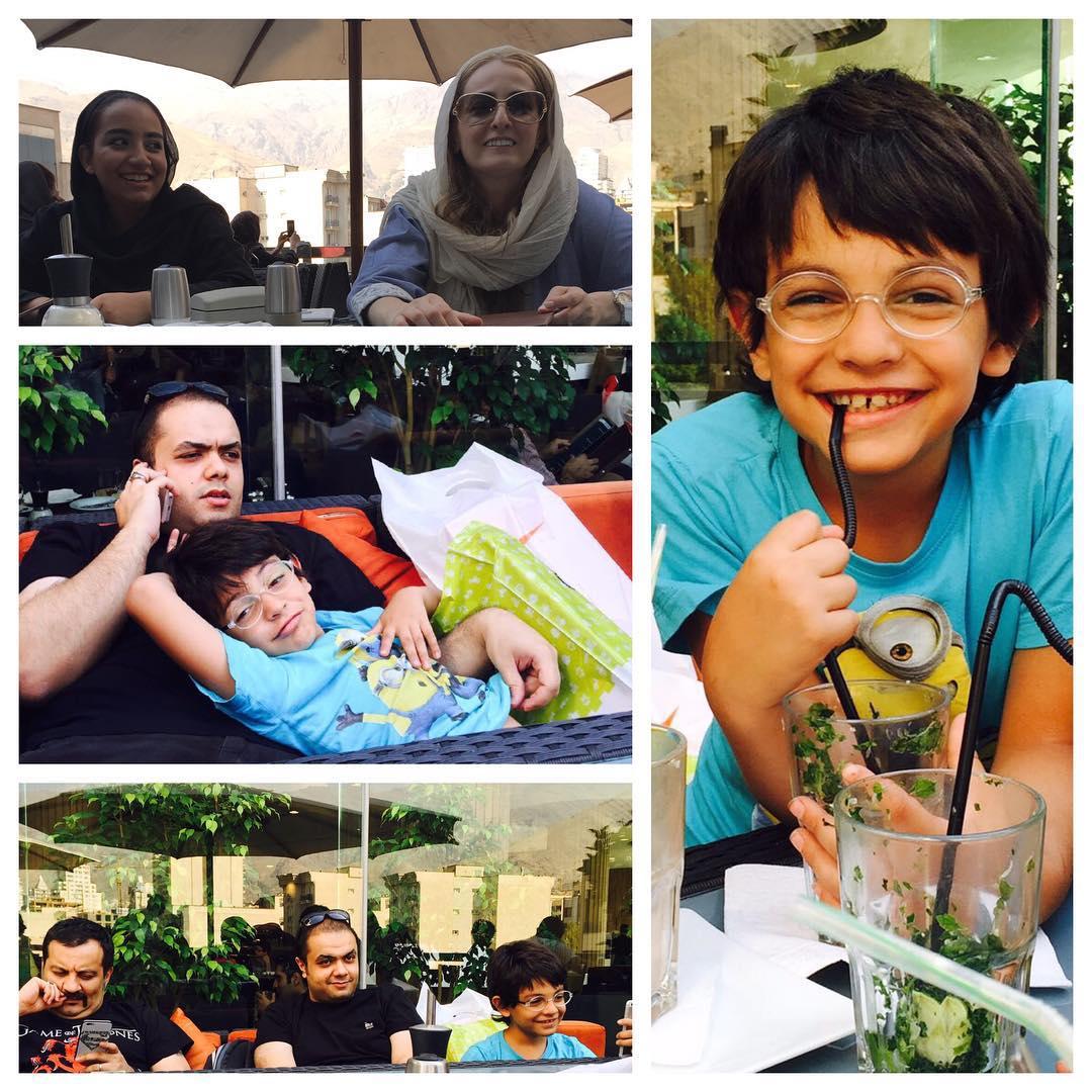 یک عکس خانوادگی زیبا از مهراب قاسم خانی + عکس