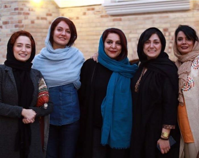 مهناز افشار و دوستان معروفش در جلسه جشنواره جهانی فیلم فجر+تصاویر