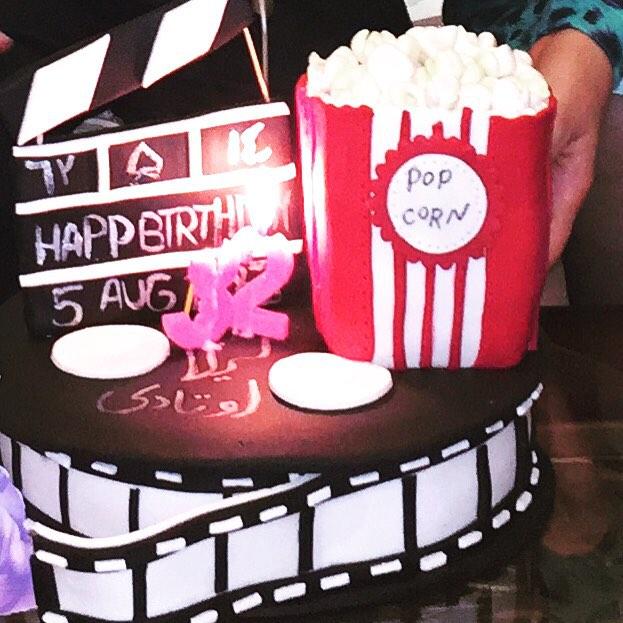 کیک تولد زیبا و متفاوت لیلا اوتادی + عکس