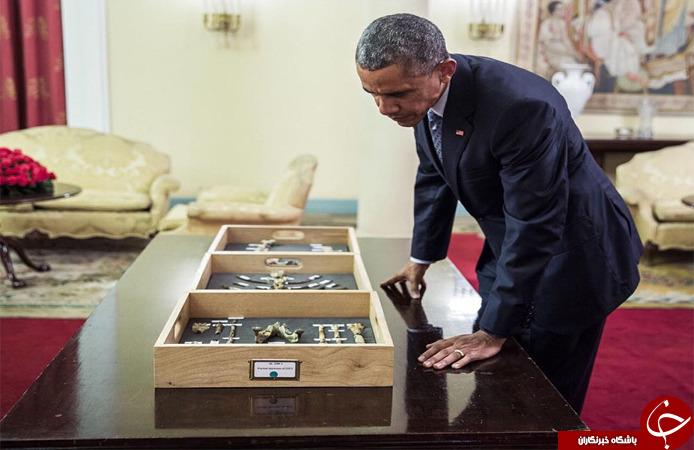 فسیل جد اوباما و حضور اوباما در کنارش + تصاویر