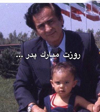 عکسی جالب از دوران کودکی مازیار فلاحی در آغوش پدر مرحومش