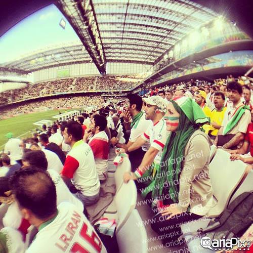 بازیگران ایرانی در بازی ایران با نیجریه در جام جهانی ۲۰۱۴ برزیل + تصاویر