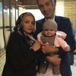 اولین عکس سه نفره از امیر مهدی ژوله و همسر و دخترش