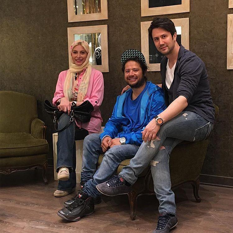 فریبا نادری و هنرمند طناز و مشهور در فروشگاه شاهرخ استخری +عکس