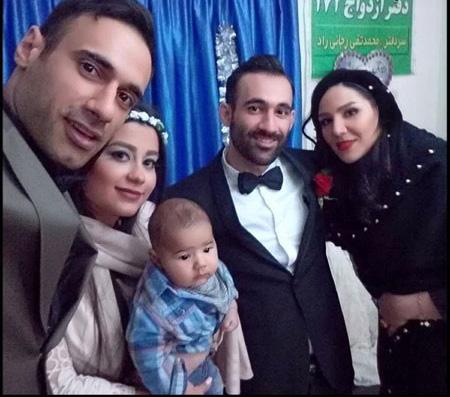 عکس خانوادگی عادل غلامی در عقد کنان برادرش